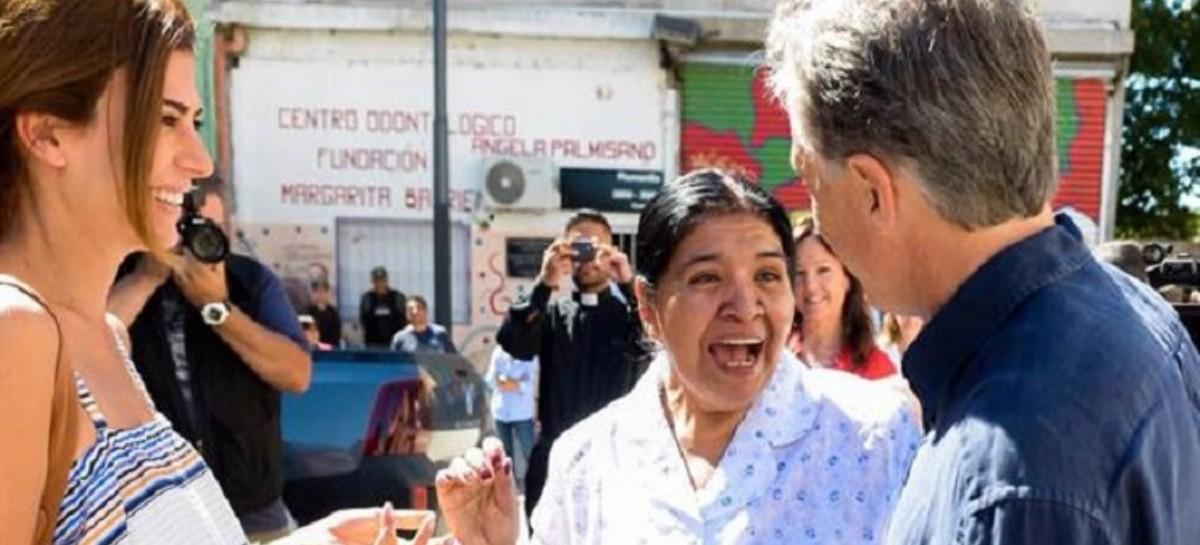 Como en cada víspera navideña, Macri visitó el comedor de Margarita Barrientos