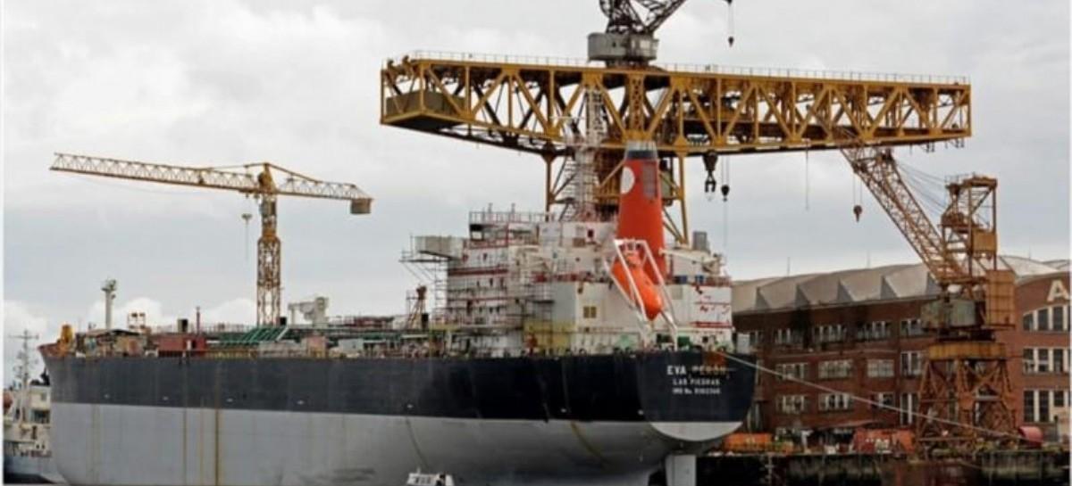 Optimismo en Astillero Río Santiago con las pruebas de funcionamiento del buque Eva Perón