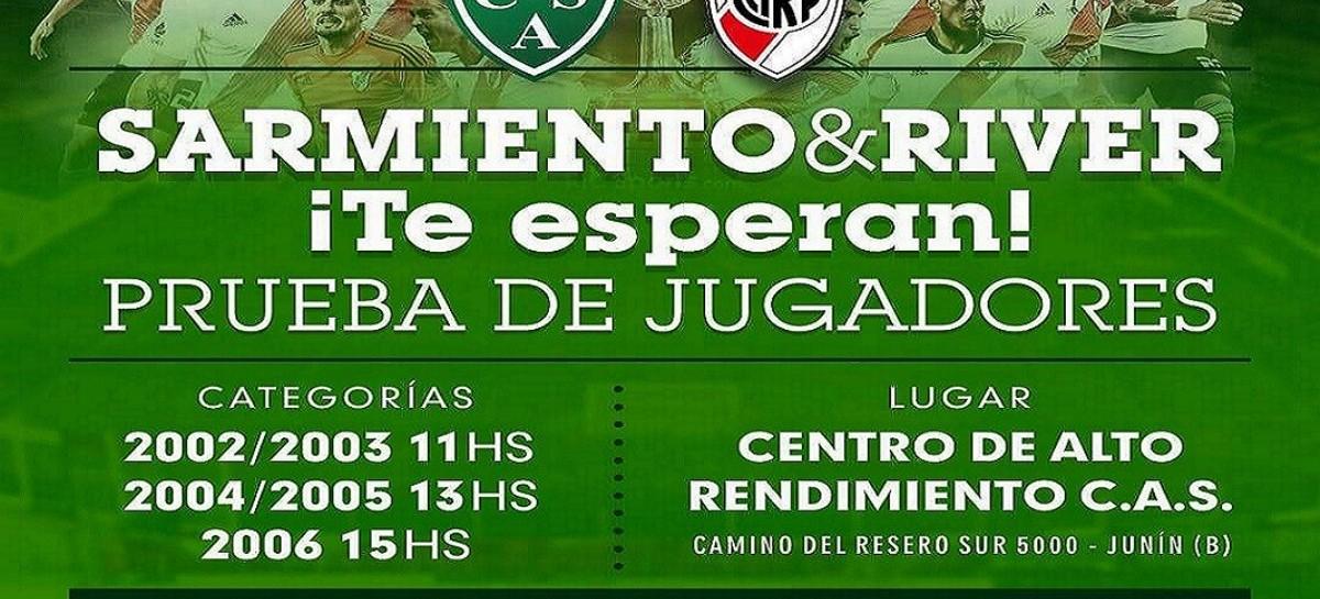 Junín, Sarmiento y River Plate: una prueba de jugadores divide a la sociedad, que teme un despojo