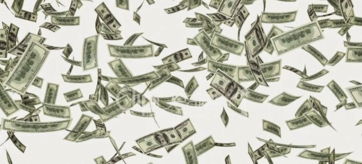Llovieron dólares… pero en Estados Unidos