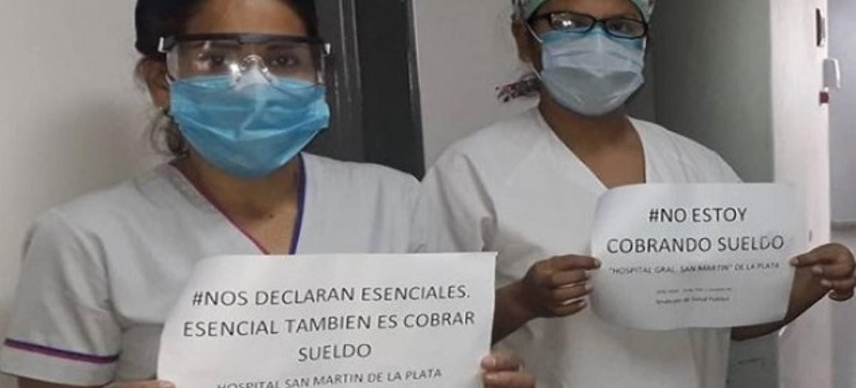"""""""Háganse cargo"""": la campaña que inició el Sindicato de Salud Pública en reclamo del pago de salarios"""