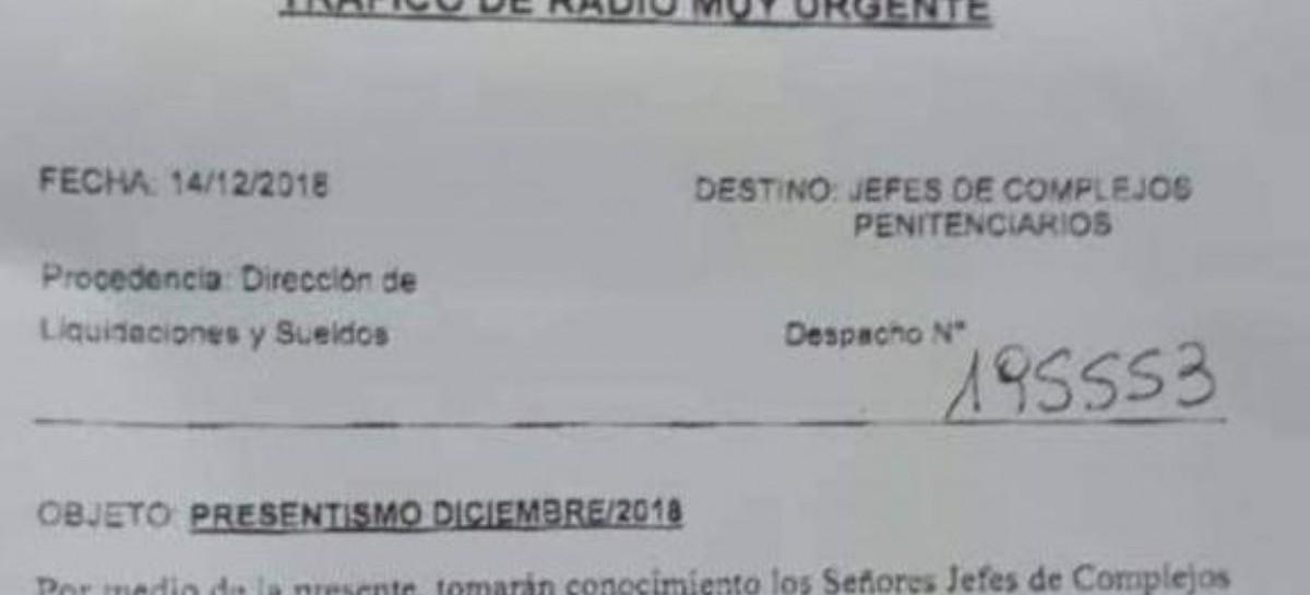 """Penitenciarios: quienes no tomaron licencia en diciembre, cobrarán un """"generoso"""" plus de 750 pesos"""