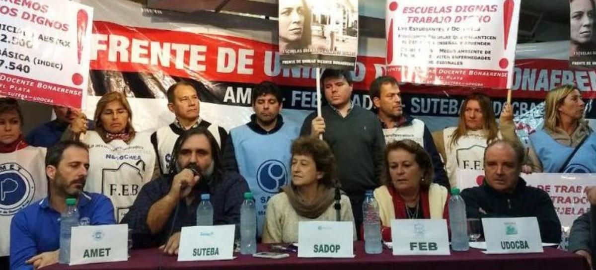 """Por momentos amagaron con un """"sí a todo"""", pero los gremios docentes volvieron a decirle NO a Vidal"""