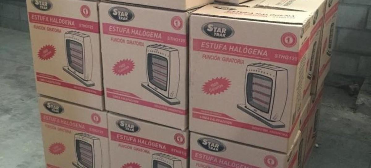 """Detuvieron a """"empleados infieles"""": robaban estufas para hacer su propio negociado con la ola de frío"""