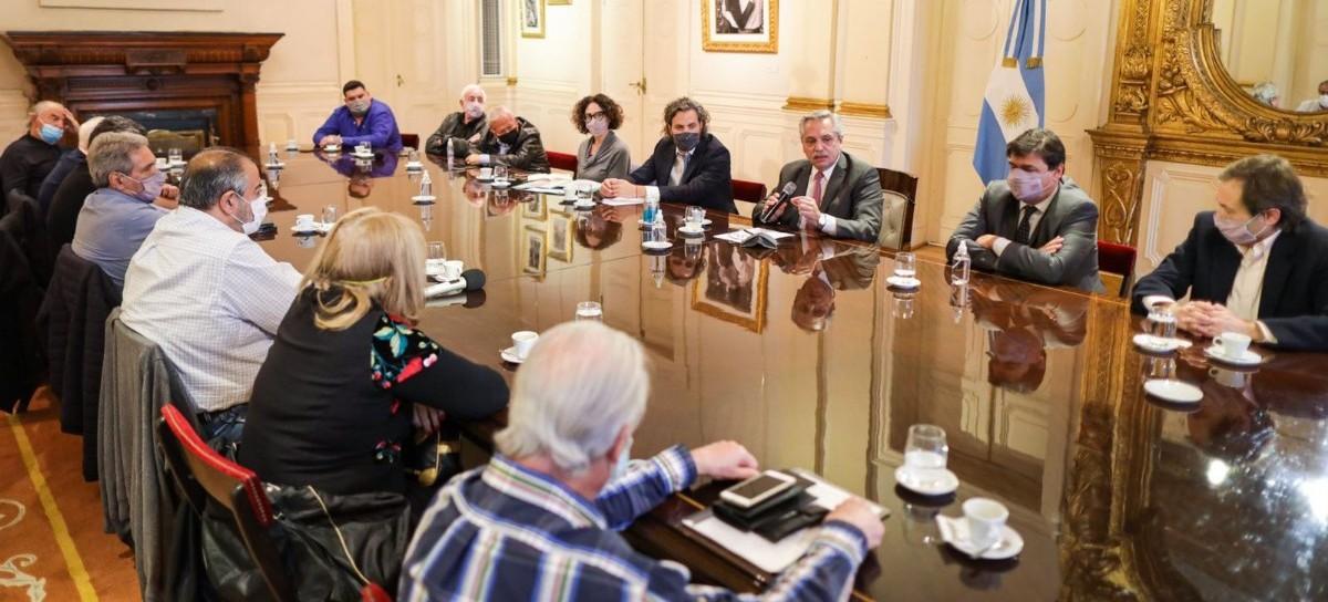 El presidente Fernández recibió a la CGT: mira en la reactivación y la renovación de sus autoridades