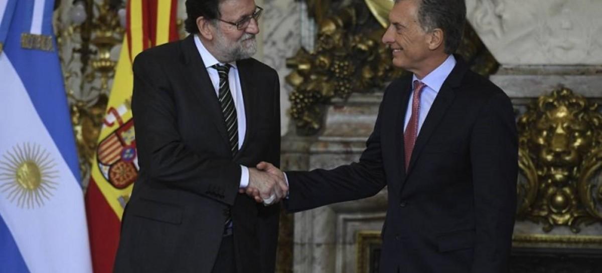 """Macri y Rajoy, con elogios cruzados: Dijeron estar en """"sintonía"""""""