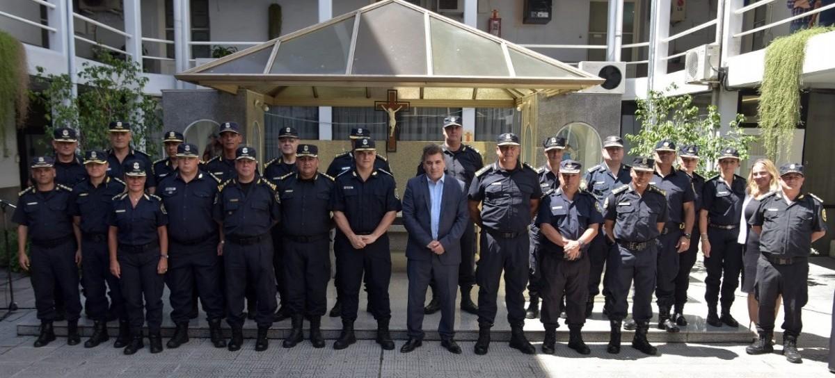 El ministro Cristian Ritondo encabezó el acto de asunción de nuevos jefes policiales bonaerenses