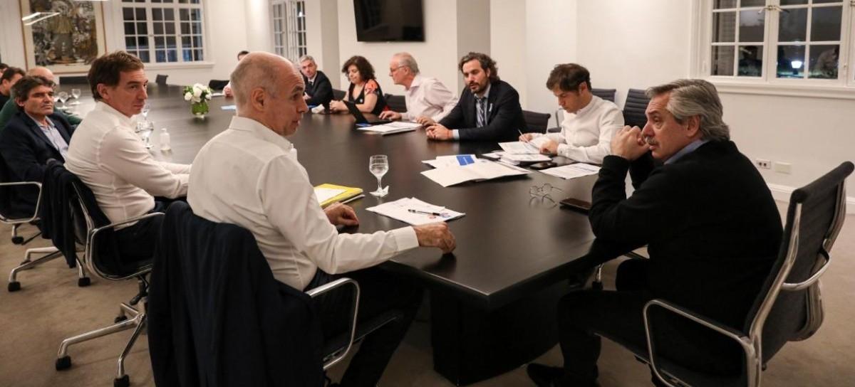 Sin margen para flexibilizar: la síntesis de la reunión Fernández, Kicillof y Rodríguez Larreta