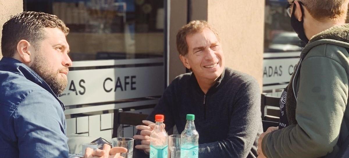 Hurlingham: Diego Santilli visitó la ciudad y se mostró junto al candidato local, Lucas Delfino