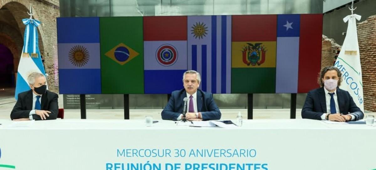 Treinta años de MERCOSUR: el presidente Alberto Fernández lo conmemoró junto a sus pares