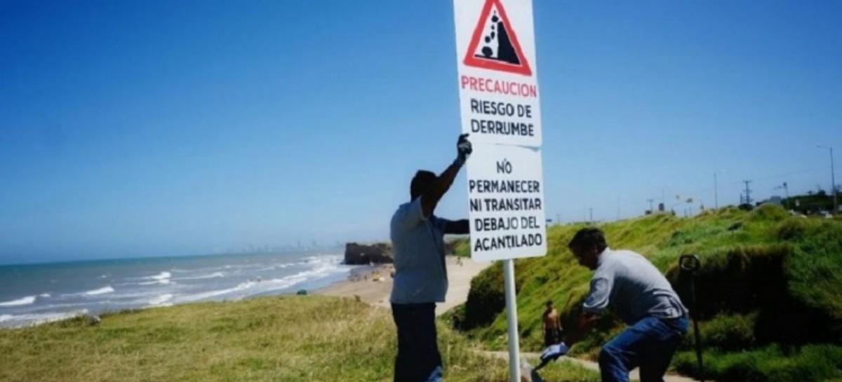 Después del derrumbe y la tragedia de la nena en Mar del Plata, señalizaron la zona