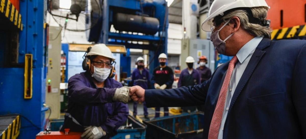 Baradero: El presidente visitó una autopartista nacional que fabricará piezas para Volkswagen