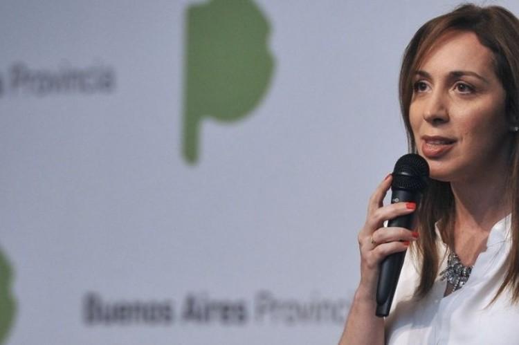 """La gobernadora Vidal dijo que las rinoscopias a policías no deben tomarse como una """"purga"""". María Eugenia Vidal"""