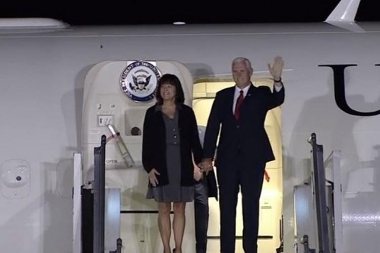 Después de la gran elección, Macri recibió al vicepresidente de Estados Unidos.