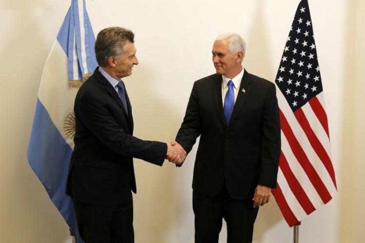 Diferencias entre Macri y Pence por la situación de Venezuela.