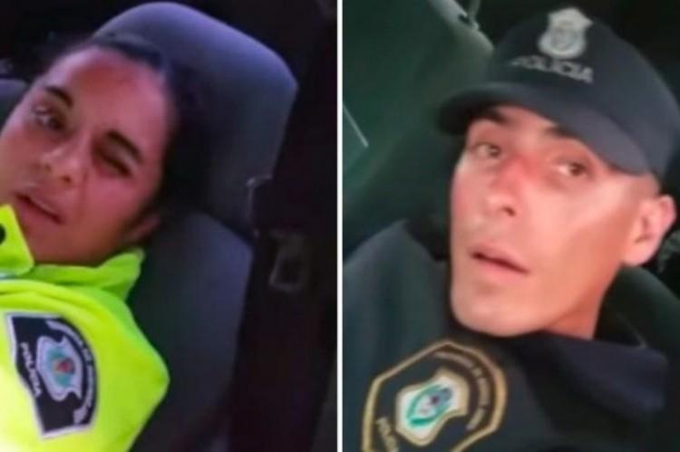 Una siesta muy cara en Ruta 2: un comisario filmó durmiendo a 2 policías y los sancionaron a los 3