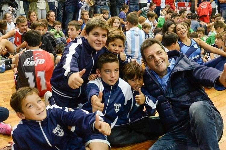 """Sergio Massa en Chivilcoy: """"La gente se está empobreciendo"""". Sergio Massa, en Chivilcoy."""