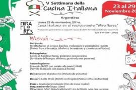 La Plata, una de las sedes de la V Semana de la Cocina Italiana en el Mundo