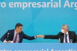 -Visita a la Argentina del presidente español- Fernández y Sánchez se reunieron con empresarios