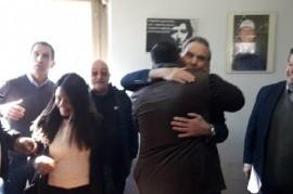 La foto que confirma el pacto entre el Gobierno de Garro y el Sindicato municipal de Alfano