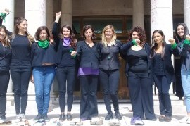 Trabajadoras de la Justicia, en el Día de la Mujer, reclamaron mejores condiciones laborales