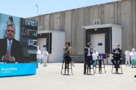 El presidente Fernández destacó el rol de la industria frigorífica para pensar en el desarrollo