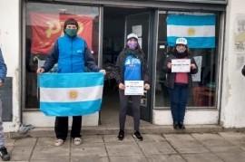 """Organizaciones sociales llevaron a cabo una """"Jornada Vicentin"""" para apoyar al Gobierno de Fernández"""