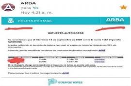 Advierten por un engaño informático mediante el envío de un correo en nombre de ARBA