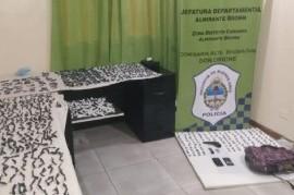 Doce detenidos en un campo de Almirante Brown por vender paco y marihuana