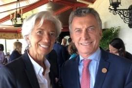 Mauricio Macri está feliz: ya obtuvo la foto con su nueva musa económica, Christine Lagarde