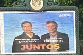 Un afiche poco claro de Juntos con ¿Macri Presidente?