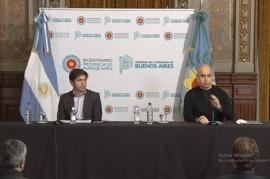 EN VIVO: Kicillof y Rodríguez Larreta encabezan una conferencia de prensa en La Plata