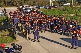 YPF y Termoeléctrica de Ensenada: sorpresiva autoconvocatoria ruidosa de afiliados de la UOCRA