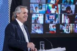 Día de la Bandera: el presidente Fernández encabezó un acto virtual y tomó juramento a alumnos