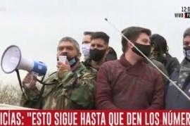 """Temerario mensaje policial: """"Si el gobernador no puede solucionar esto, que dé un paso al costado"""""""